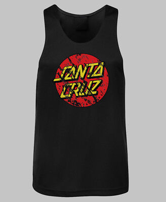 Santa Cruz Distressed Dot Logo Singlet