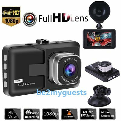 "170° Kamera 3.0"" HD 1080P KFZ Vehicle DVR Dashcam Auto Vehikel Car G-Sensor DHJN"