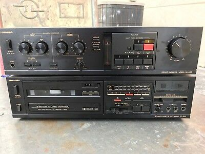 Extremely Rare Vintage Toshiba SB M33 Amplifier with Cassette Deck