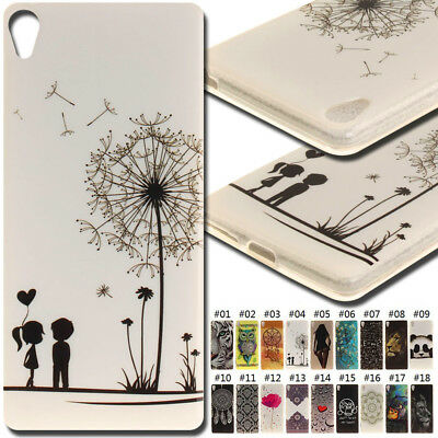 For Sony Xperia XA Silicone Rubber Cover IMD TPU Soft Skin Case Shockproof Back