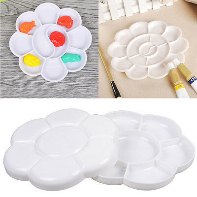 New Plastic Nail Art Paint Color Mixing Palette Plate Disk Essential .Tool