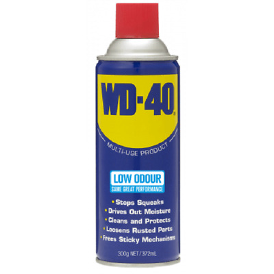 WD-40 LOW ODOUR AEROSOL 300g Loosens Rusted Parts, Cleans & Protects *Aust Made