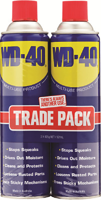 WD-40 LUBRICANT 425g 2Pieces Penetrates Stuck Metal Parts *Australian Made