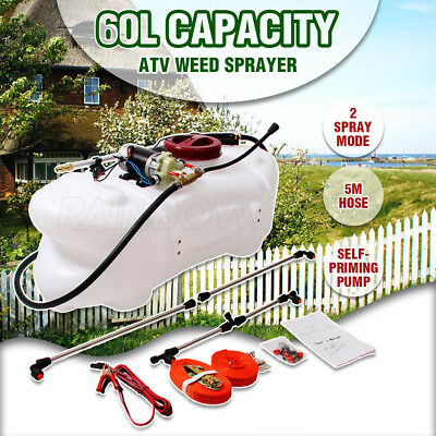 NEW 60L ATV Weed Sprayer 12V Pump Tank Chemical Spray Garden Farm Boom Spot Wand