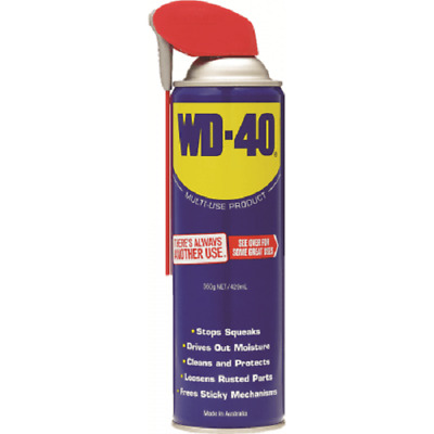 WD-40 MULTI USE LUBRICANT 350g Aerosol, Smart Straw,Displaces Moisture*Aust Made
