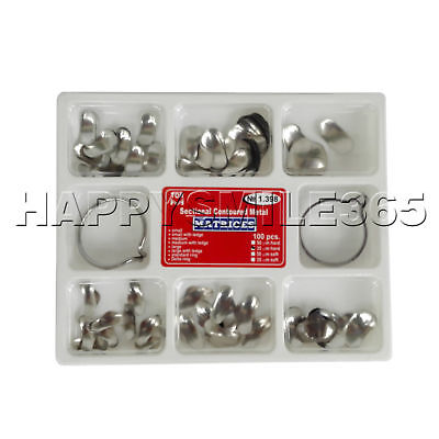 100 Pcs Dental Matrix Sectional Contoured Metal Matrices No.1.398 lmws 35um Hard