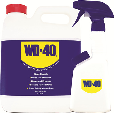 WD-40 LUBRICANT+APPLICATOR 4L Cleans & Protects Industrial Equipment *Aust Made