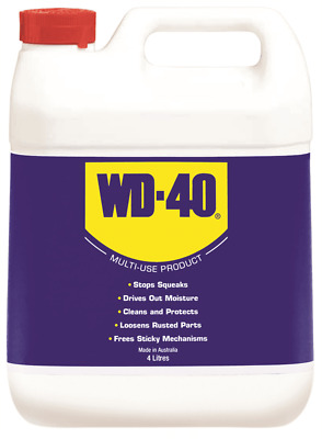 WD-40 PENETRANT/LUBRICANT 4L Multi-Purpose, Cleans & Protects *Australian Made