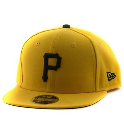 Adult Pittsburgh Pirates Cap New Era MLB Team 9Fifty Hat In Yellow