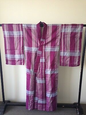 Vintage Japanese Silk Kimono Authentic Hand Made One of a Kind Costume Robe
