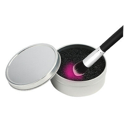 Color Makeup Brush Clean Eye Shadow Sponge Cleaner Tool Iron Box Switch JN