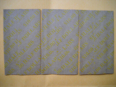 50 new USA half dollar halves flat paper coin wrappers fifty cent