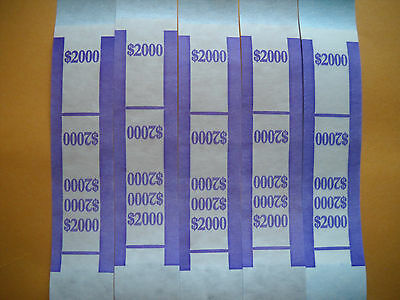 25 currency straps bands USA $20 bills