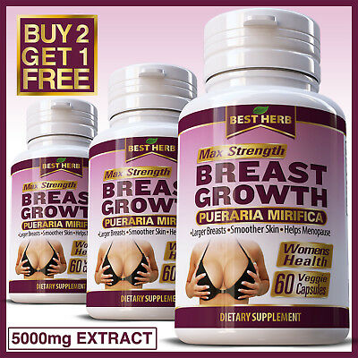 BREAST GROWTH PUERARIA MIRIFICA CAPSULES FIRMING BUST ENLARGEMENT 5000mg EXTRACT