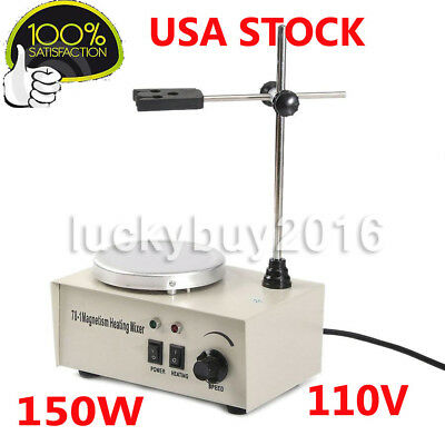 1000ML Laboratory Lab Magnetic Stirrer with Heating Plate Hotplate Mixer 78-1