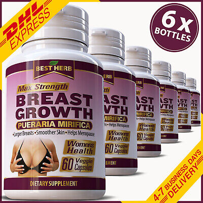 BREAST GROWTH CAPSULES PUERARIA MIRIFICA FIRMING BUST ENLARGEMENT 5000mg EXTRACT