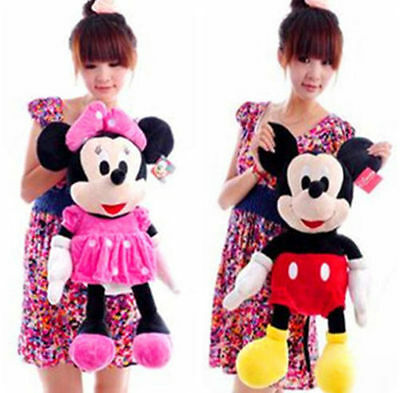 2Pcs 72Cm Disney Mickey & Minnie Mouse Plush Bear Kid Baby Soft Toy Stuffed Doll