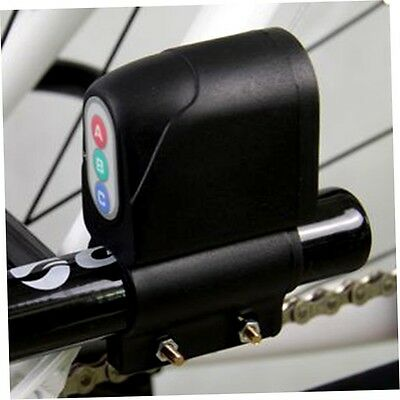 Bike Bicycle Cycling Security Waterproof Password Alarm Anti theft Lock DH