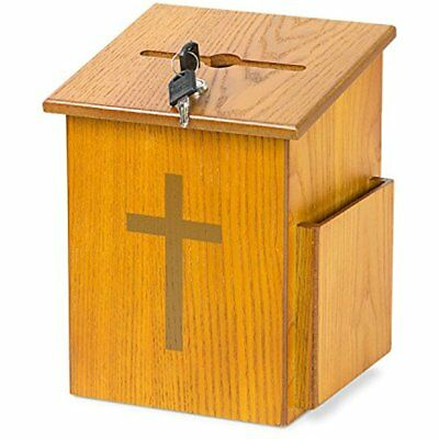 Pencil Holders Source One Wooden Church Offering Donation Box W/Cross (1 Pack,