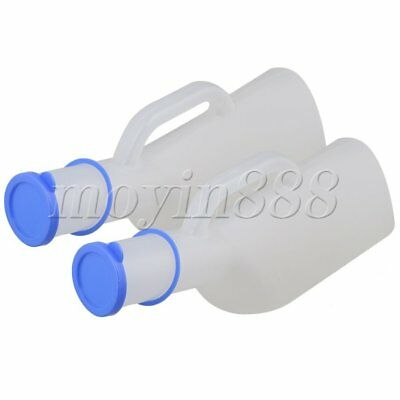 2Pcs Transparent Matte 1000ML Portable Urine Bottle for Male with Cover