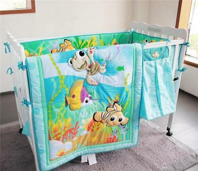 Baby Cot Crib Bedding Quilt 3D Pattern Nimo Fish Dog Lion Animals Sew-on