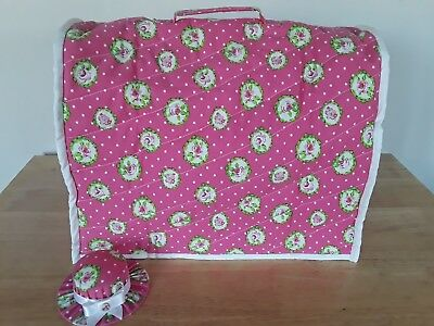 💟 Beautiful fully lined, handmade sewing machine dust cover 💟