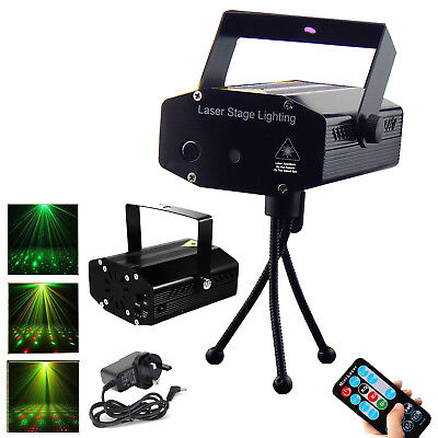 LED RGB DJ Disco Laser Strobe Projector Sound Activated Light for Party Bar Pub