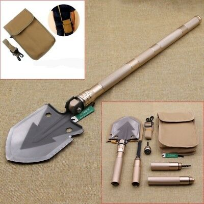 Gold Utility Ordnance Folding Camping Shovel Outdoor Self-defense Survival Tool