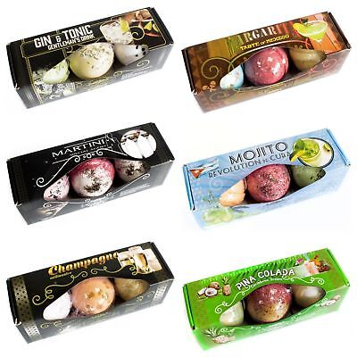 Cocktail Bath Bombs 3 Piece Sets Presentation Box 6 to Choose from
