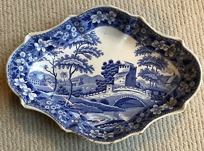 Antique Spode Blue & White Bowl