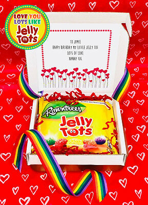 Love You Lots Like Jelly Tots boxed Sweets Personalised Keepsake Gift Birthday