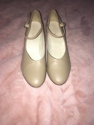 "Ladies Tan Nude Character Stage Showtime Dance Shoes soyodanca, 3"" heel"