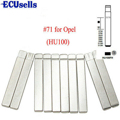 10PCS,Flip KD Remote Key Blade HU100 Type #71 for GM for Buick for Cruze NO. 71