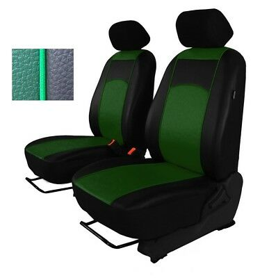 Green Eco-Leather Universal Front Seat Covers 1+1 for FIAT Scudo up to 2016