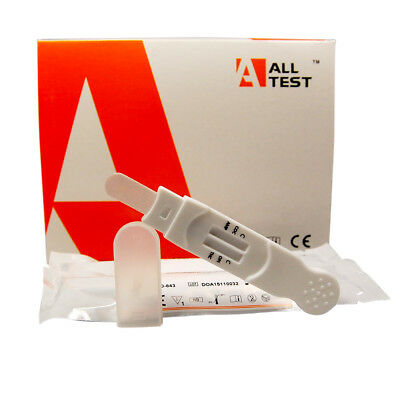 ALLTEST 4 in 1 drug ORAL / SALIVA DRUG TEST ~CANNABIS HEROIN COCAINE AMPHETAMINE