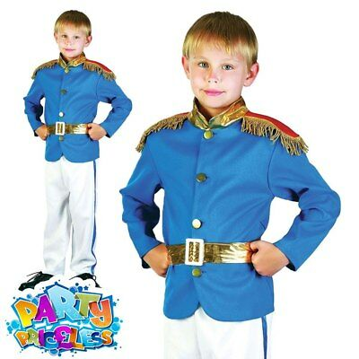 Child Royal Prince Charming Costume Boys Fairytale Book Week Day Fancy Dress New