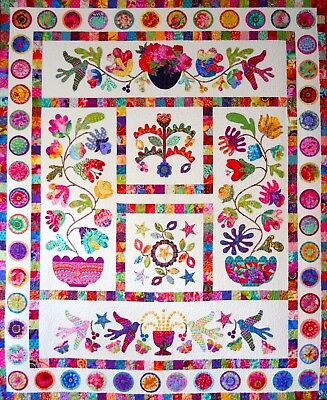 FLOWER POT  Applique Quilt Pattern by Kim McLean