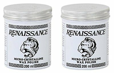 Set of 2 Renaissance Wax Polish Micro-crystalline 200ml Containers