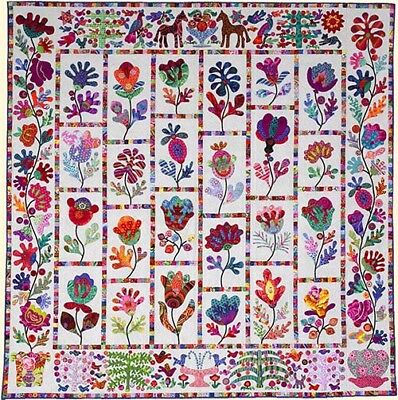 FLOWER GARDEN Applique Quilt Pattern by Kim McLean