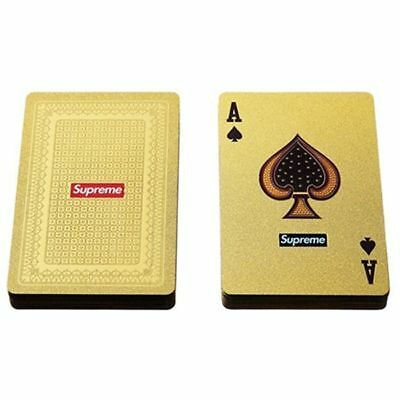 Supreme 13FW Gold Deck of Playing Cards  Supreme playing cards New