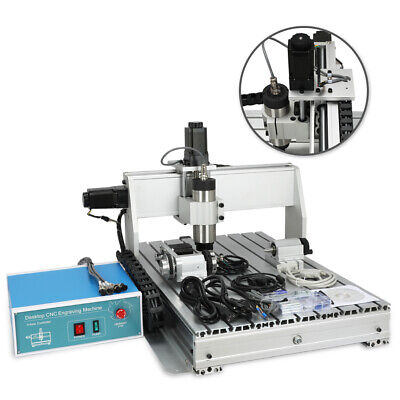 4 Axis 800W Desktop CNC Router Engraver Milling Engraving Machine 6040Z New
