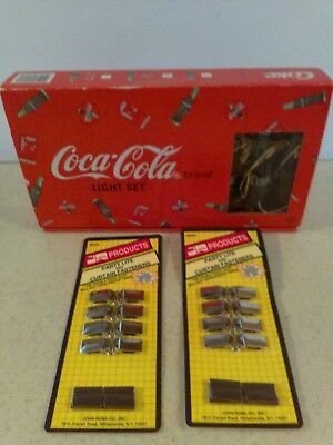 Coca Cola  Party Light Set Inclides The Hangers Set Of 10 Lights