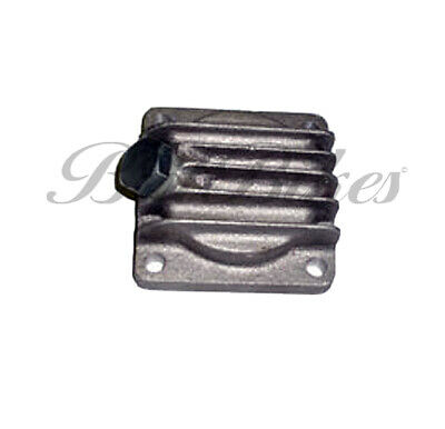 BSA A7 A10 A50 A65 Finned Alloy Sump Plate with Magnetic Drain Plug - 67-1285