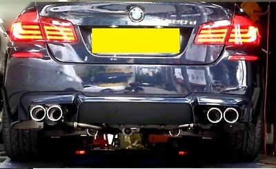 BMW 5 series F10 F11 quad style m5 look sports 4 tip exhaust