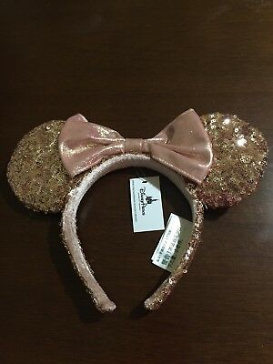 NWT Authentic Disney Parks Minnie Mouse Rose Gold Ears