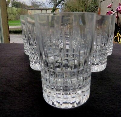 6 glasses cup whisky in crystal baccarat model nancy 2
