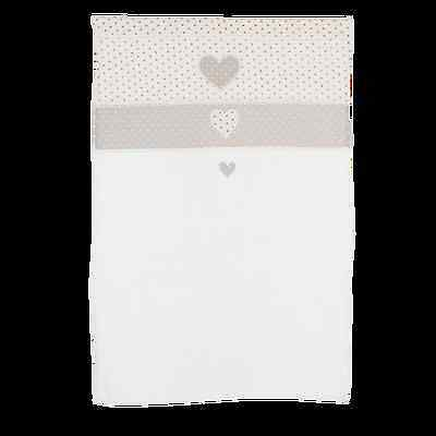 Clayre & Eef Curtain Panel Shabby 60x90cm Heart Crochet Border Vintage Cottage