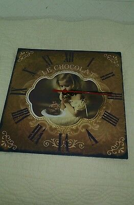 Vintage Wall Clock Nostalgic Clock Country House Style Girls Le Chocolat