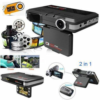 2 in 1 Car DVR Radar Dash Cam Laser Video Speed Detector/GPS Car Camera RecordAD