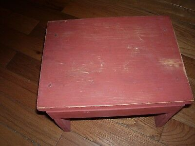 Vintage Home Made Wooden Foot Stool